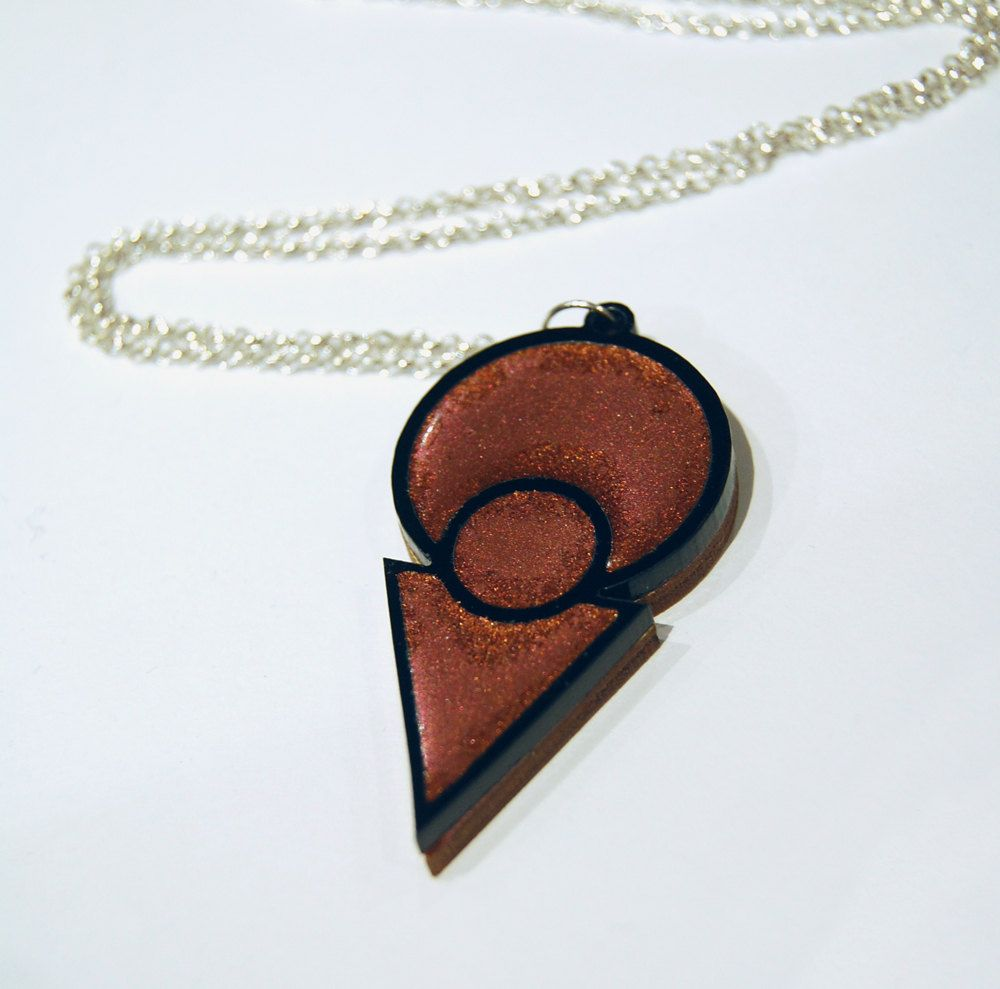 Bridal jewellery L Plate necklace laser cut marbled acrylic
