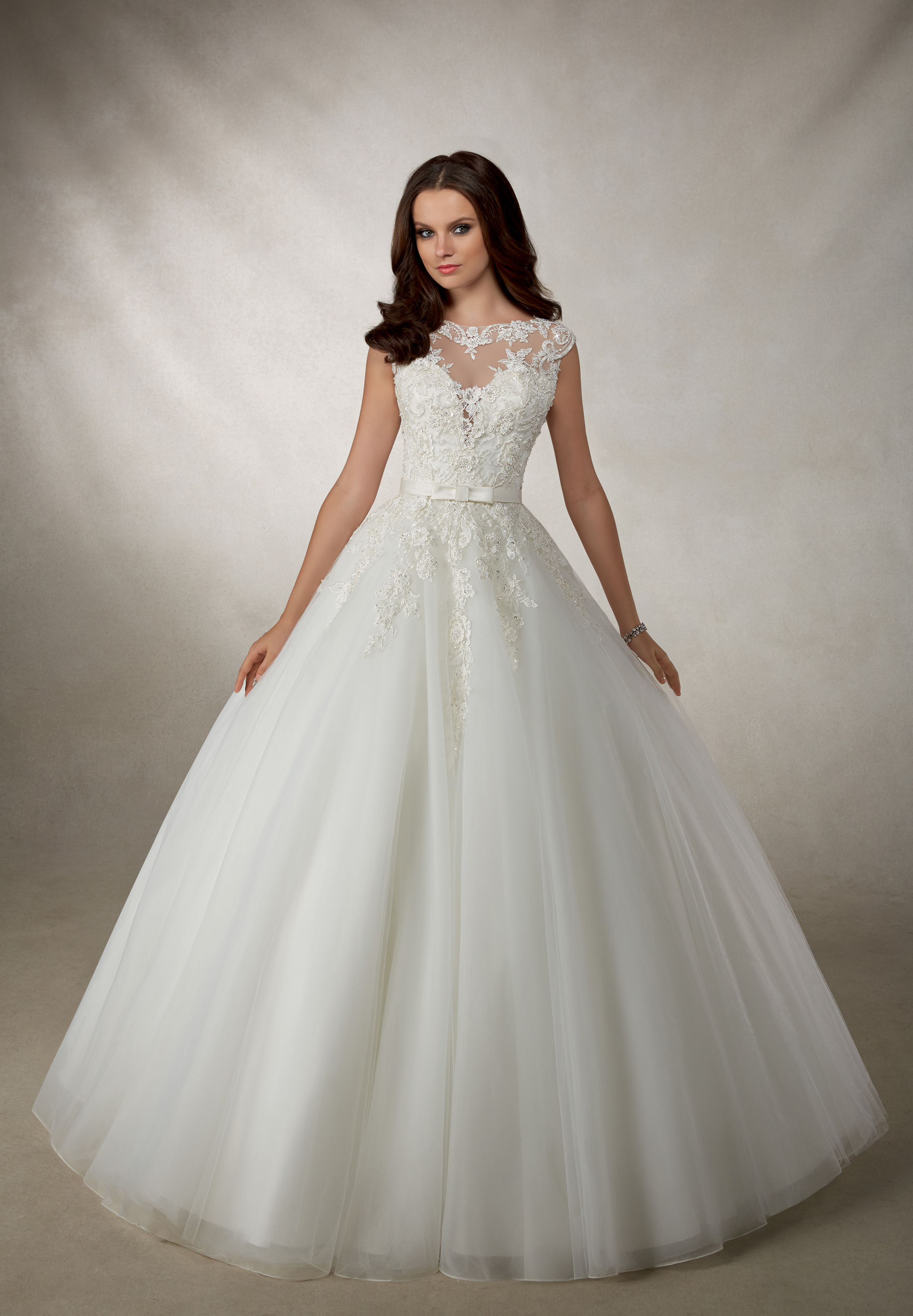 Angelica 69118 Ronald Joyce Wedding Dress Ball Gown With A Tulle Skirt And Lace Bod Wedding Dress Shopping Contemporary Wedding Dress Stunning Wedding Dresses [ 3207 x 2225 Pixel ]