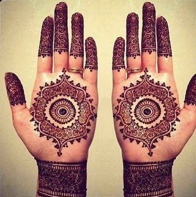 Mehndi Design For Fingers Front Side : Fresh front hand eid mehndi art for wedding fashion