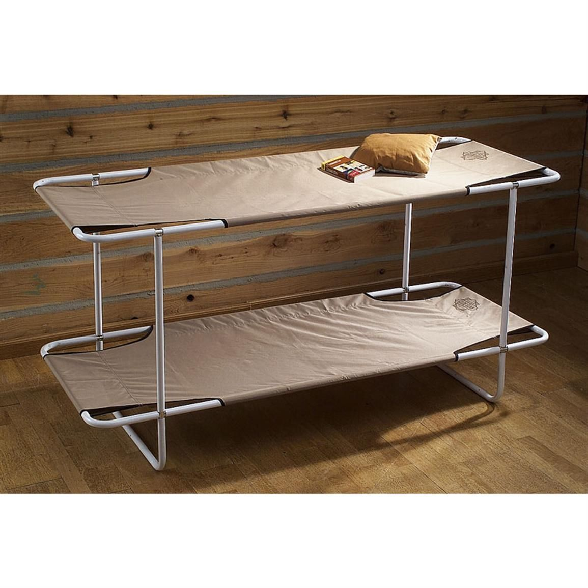 Folding Beds Diy : Guide gear? camp bunk bed khaki cots at