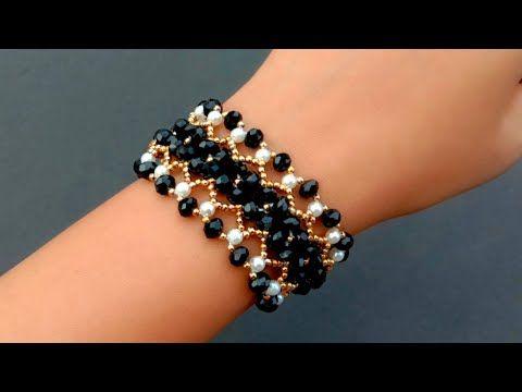 Bracelet Making How To//Beaded Lace Bracelet Tutor