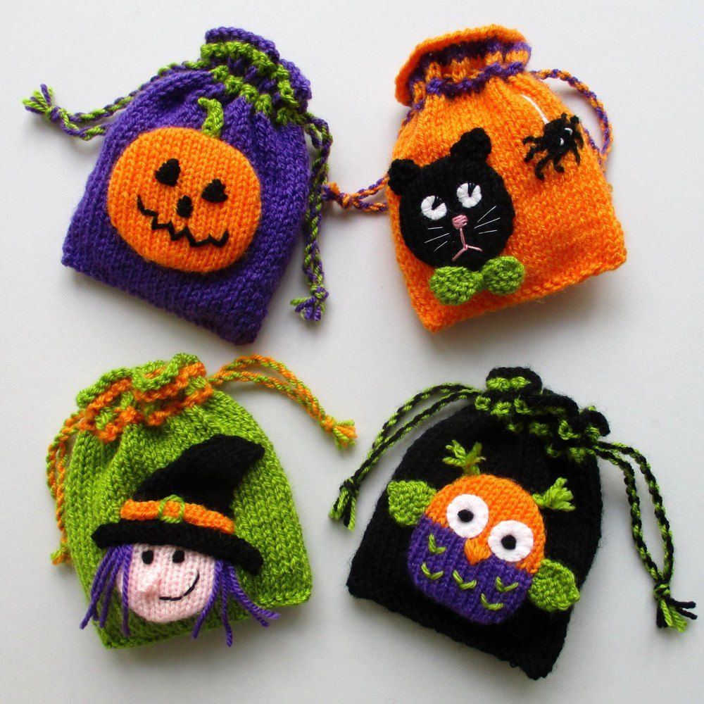 Bags of Halloween Fun Knitting pattern by Dollytime  Halloween