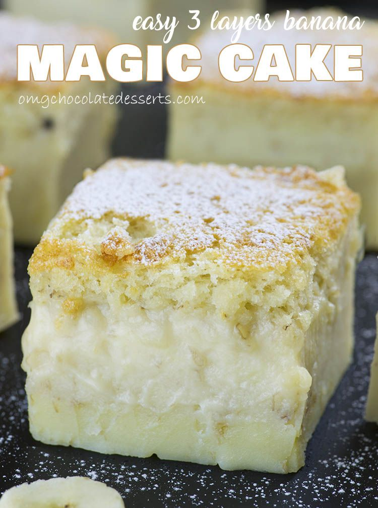Easy banana magic cake recipe bananas cake and easy food forumfinder Images