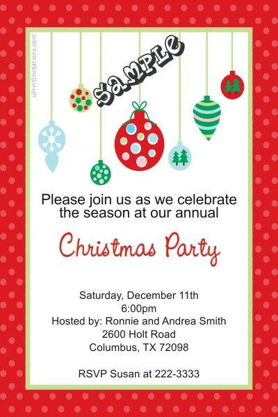 Tree ornaments christmas party invitations get these cards right tree ornaments christmas party invitations get these cards right now design yourself online solutioingenieria Image collections
