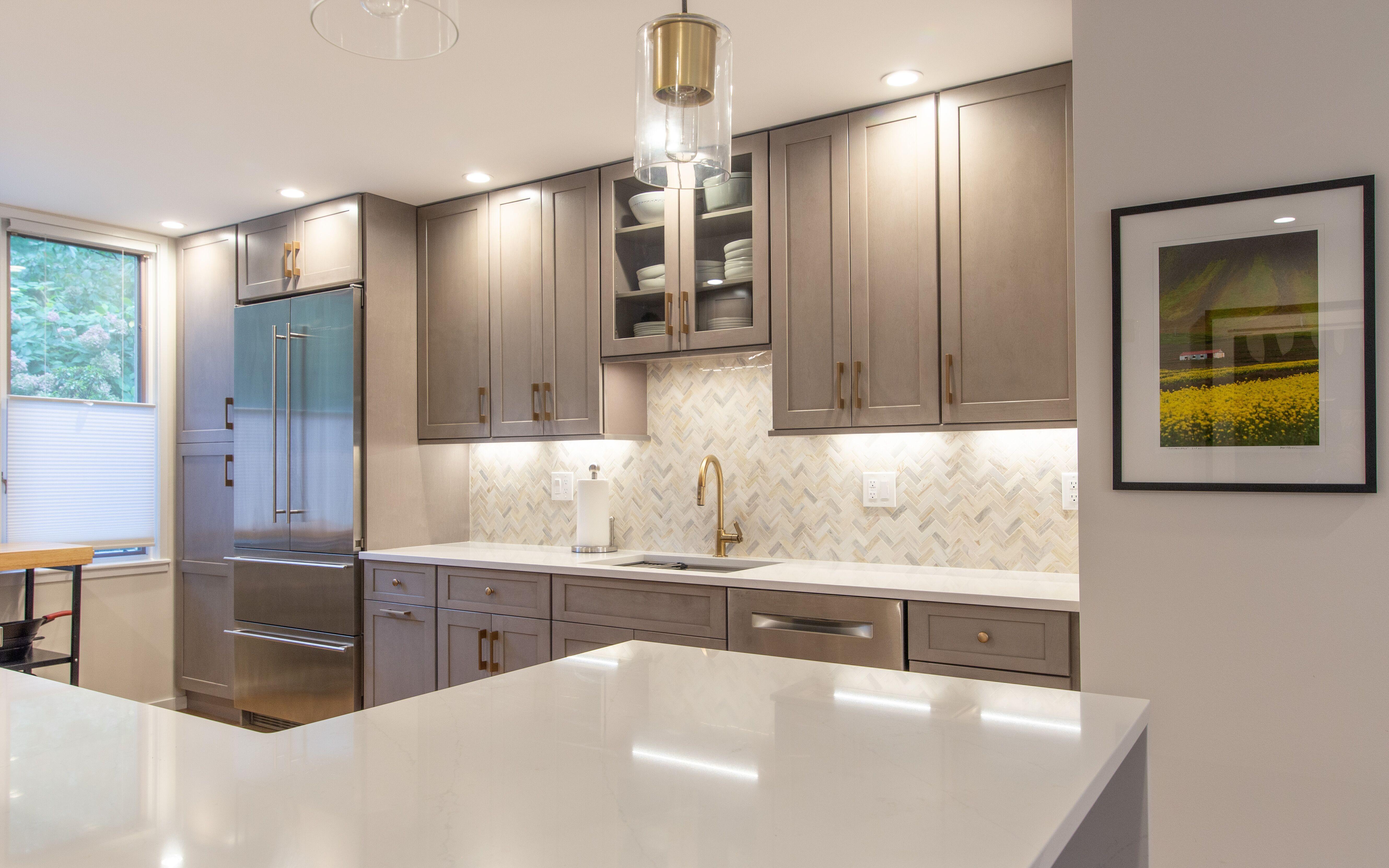 Grey Shaker Cabinetry Kitchen Cabinet Design Kitchen Remodel Kitchen And Bath Design