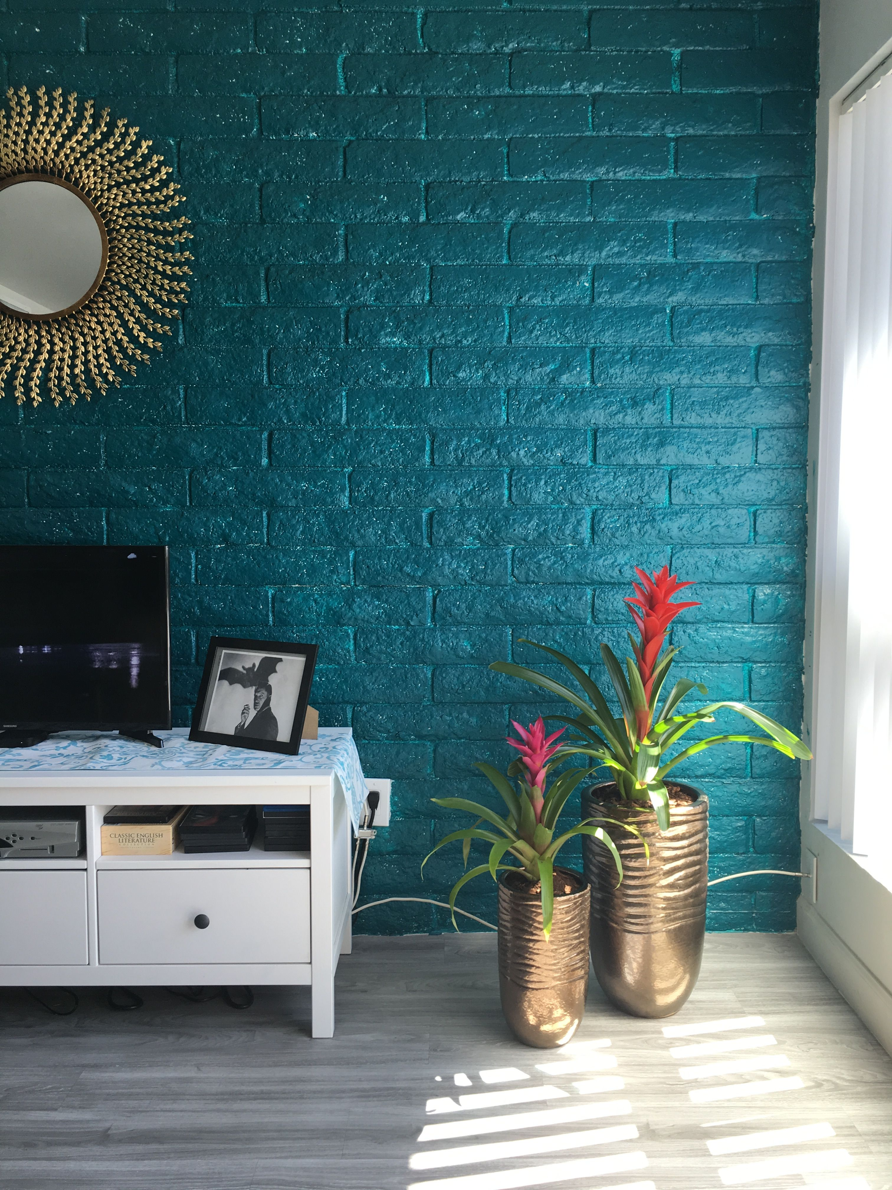 """I'm gonna miss this teal wall when I move! """"Tahitian Treat"""