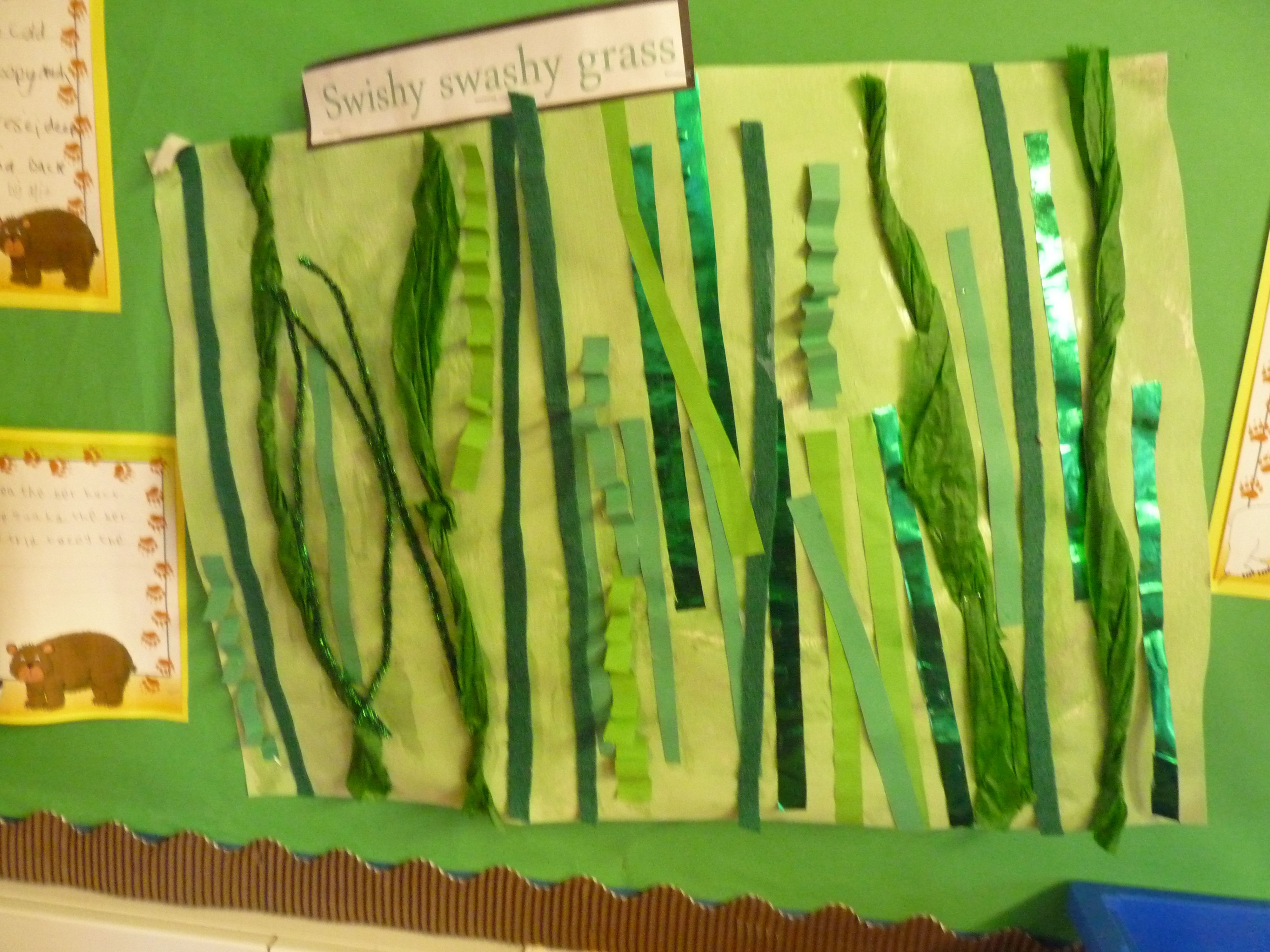 We Re Going On A Bear Hunt Swishy Grass Collage As Part Of Larger Display