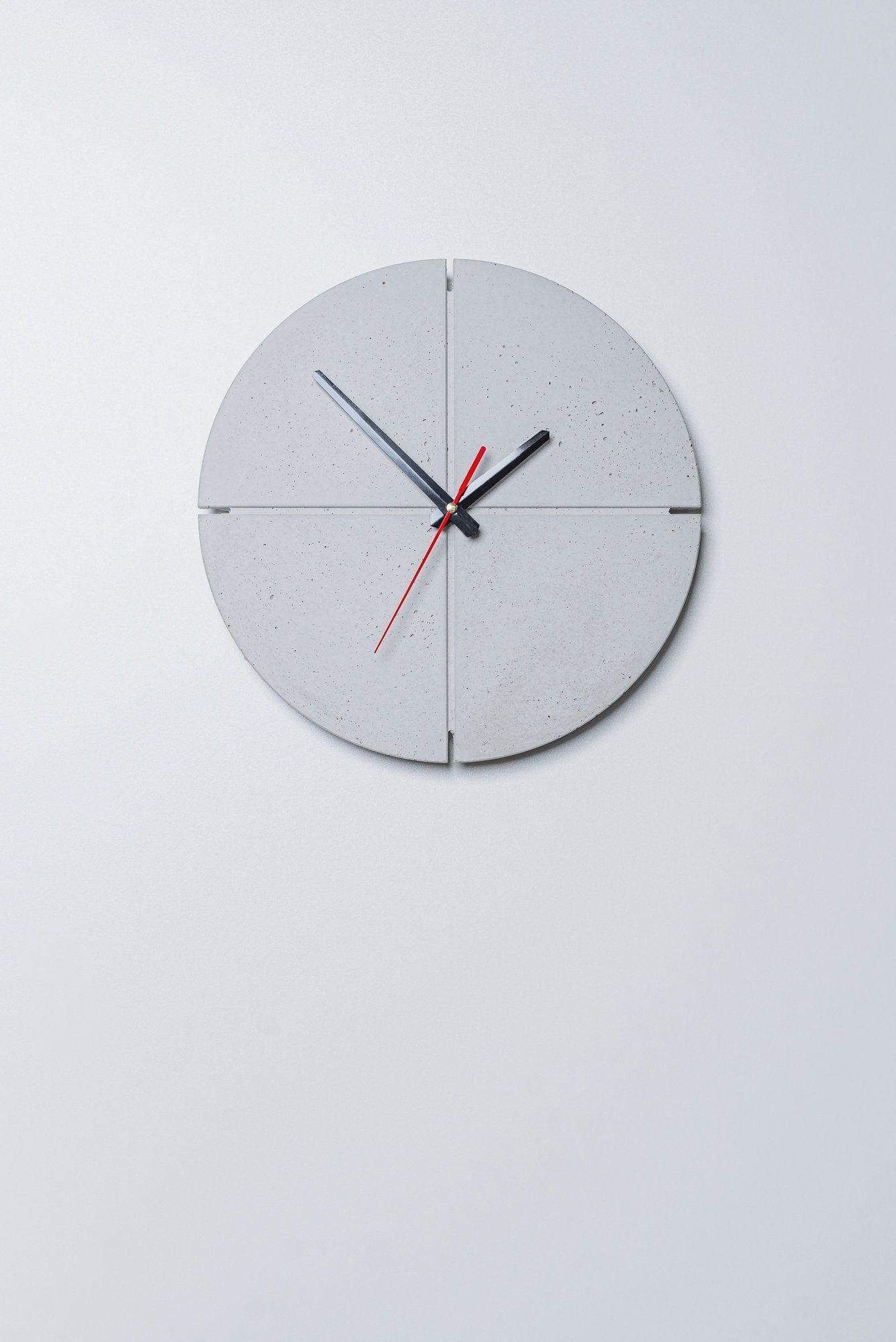Modern Concrete Wall Clock Concrete Home Decor Industrial Etsy In 2020 Industrial Clock Wall Concrete Wall Wall Clock