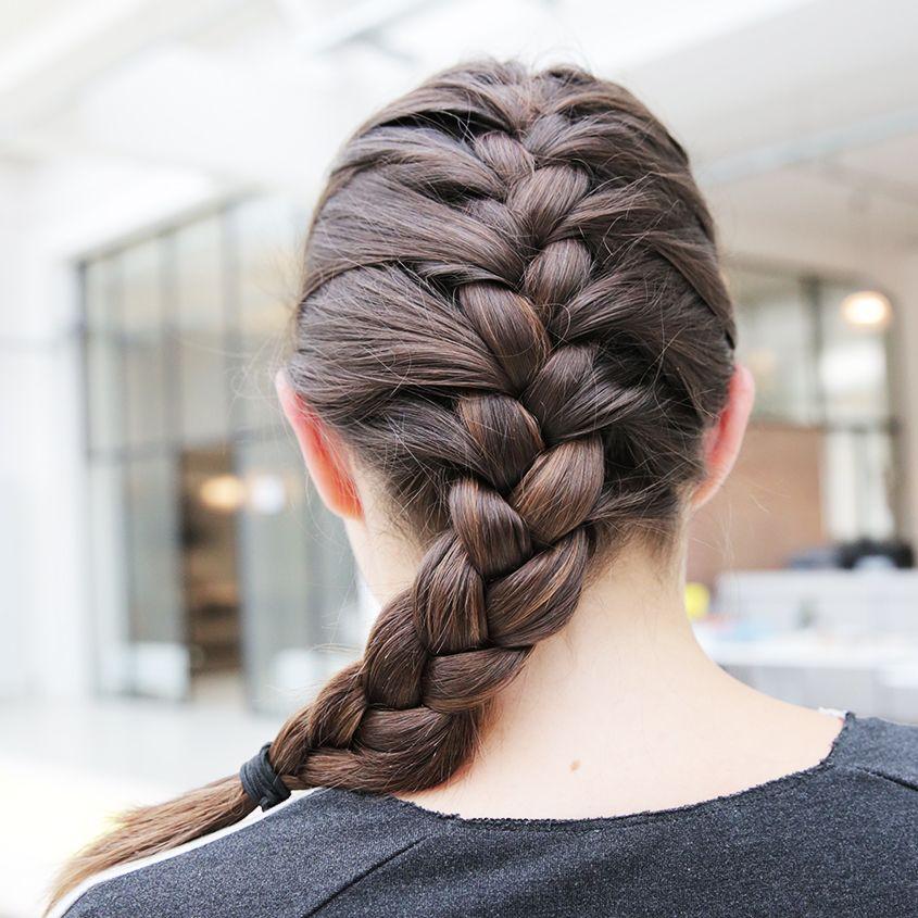 französischer zopf | beauty, make up, hair | pinterest