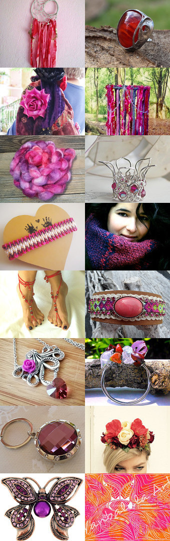 ***PINKS and REDS*** by Julie Pauly on Etsy--Pinned+with+TreasuryPin.com