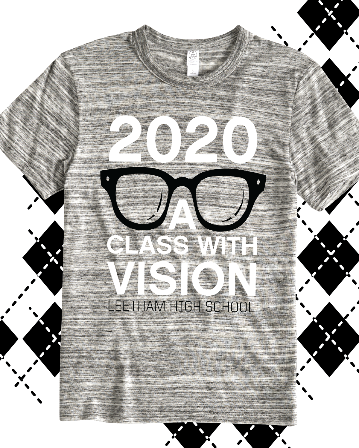944c4d2dfd 2020 A Class with Vision class of 2020 t-shirt - design idea for custom  shirt - melange, heathered, class shirt, class pride, school pride, school  spirit, ...