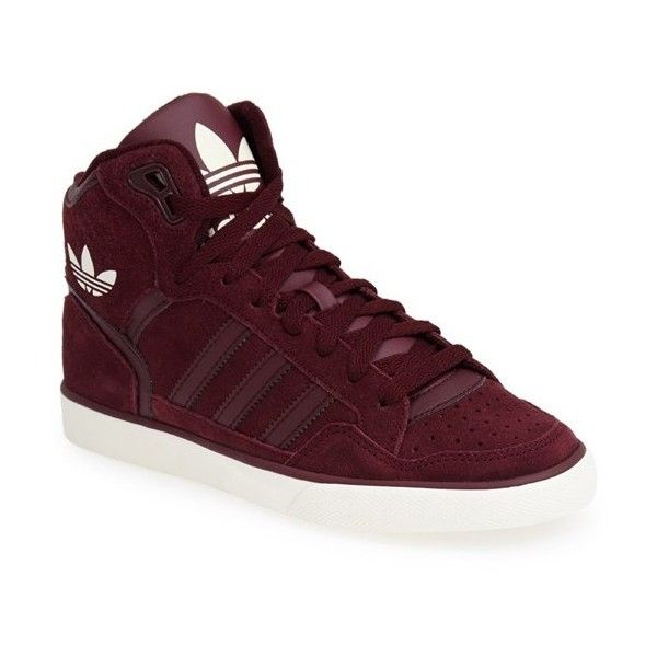 save off d6e68 b97db adidas  Extaball  High Top Sneaker ( 70) ❤ liked on Polyvore featuring shoes