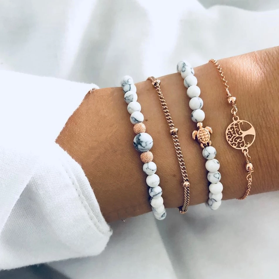 4pcs/set Bohemian Handmade Beads Bracelets Vintage Fashion   Bracelets  handmade beaded, Beaded bracelets diy, Embellished jewelry
