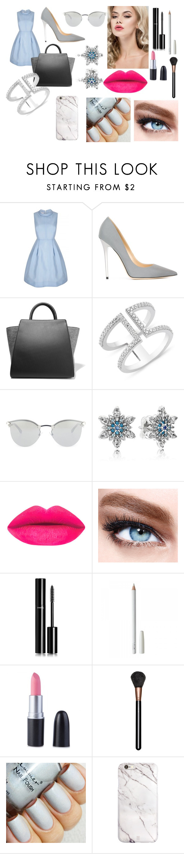 """""""Clair"""" by bonster-monster on Polyvore featuring beauty, Jimmy Choo, ZAC Zac Posen, Fendi, Pandora, Maybelline, Chanel and MAC Cosmetics"""