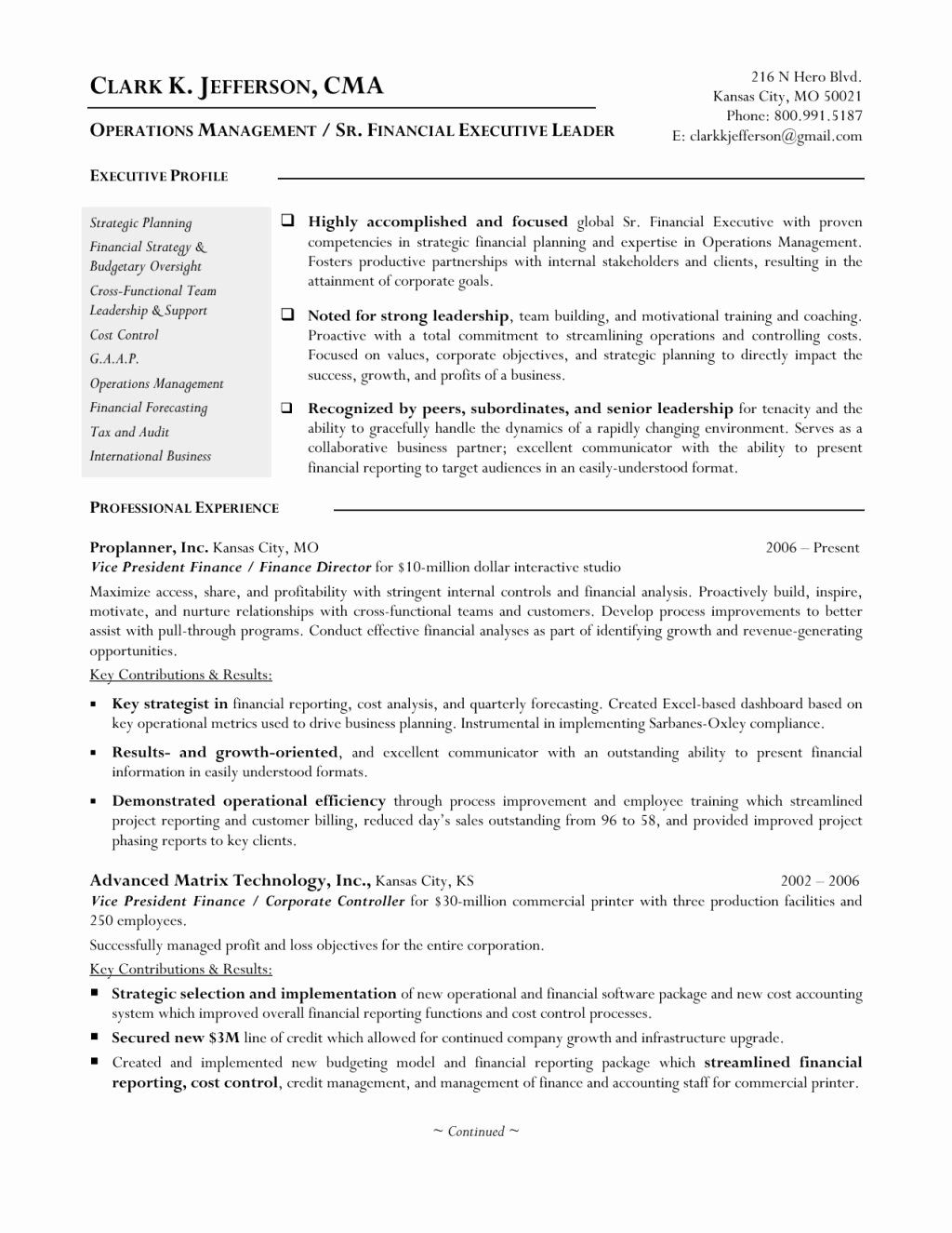 23 Finance Director Resume Examples in 2020 Manager