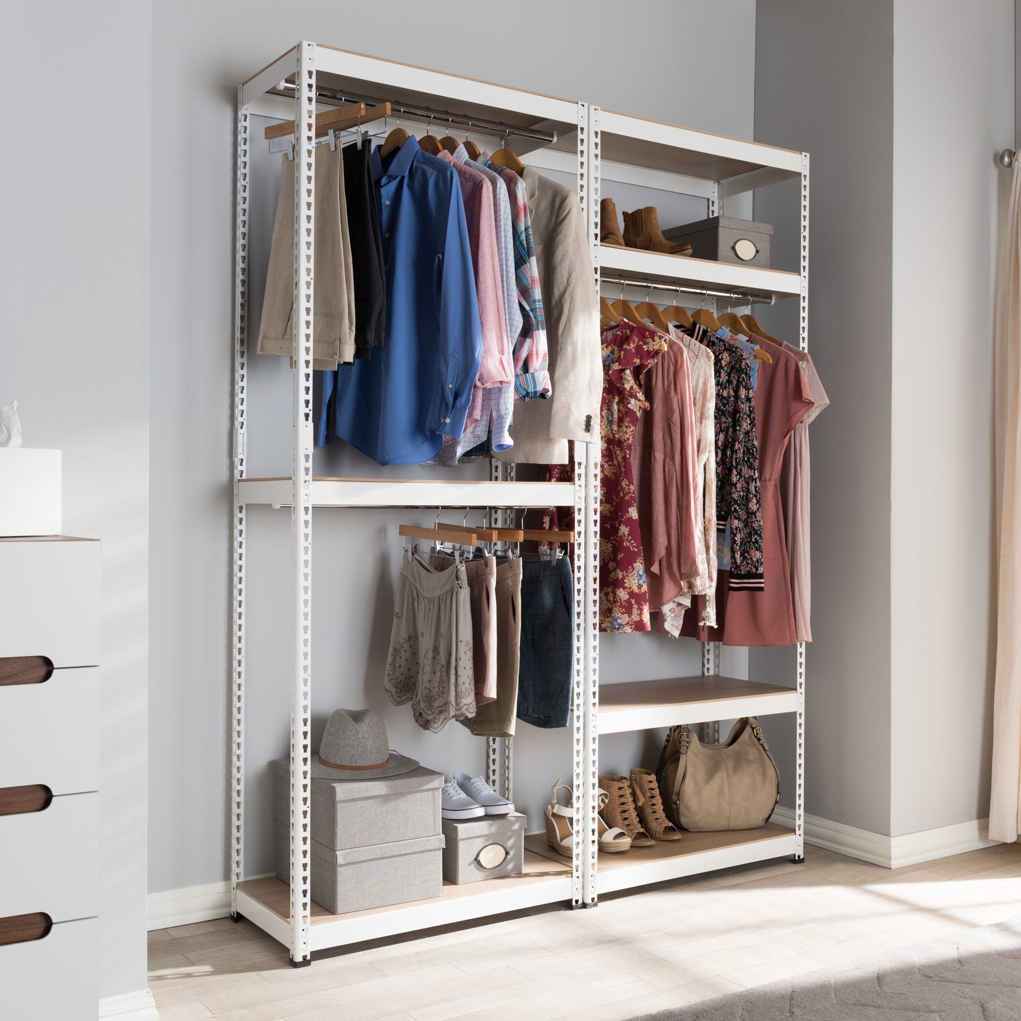Buy Closet Organizers Systems Online At Overstock Our Best Storage Organization Deals Closet Storage Clothes Storage Without A Closet Closet Shelves