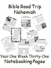 {Free Printable Notebook Pages} Bible Road Trip ~ Year One