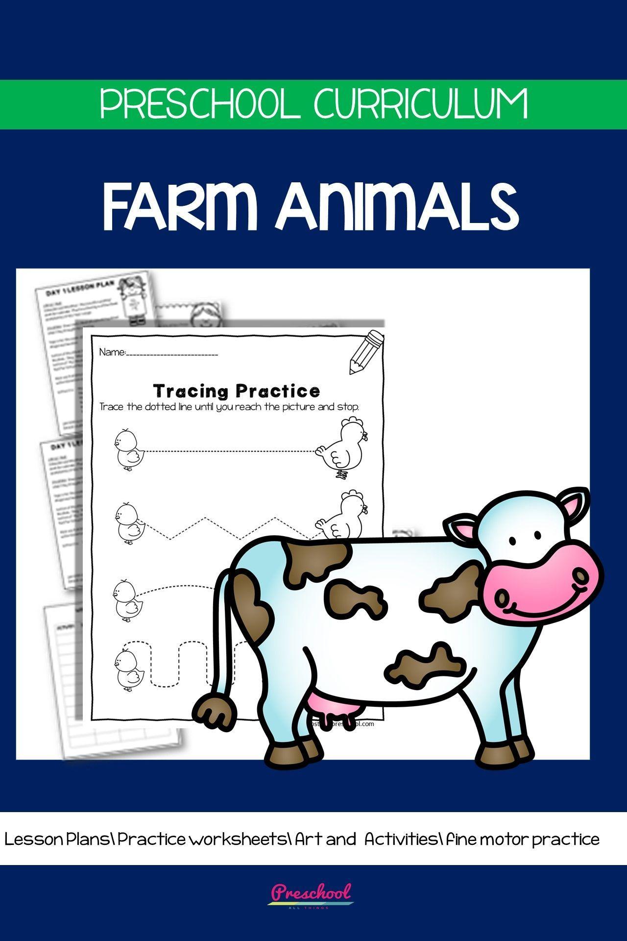 Distance Learning Farm Animals Preschool Theme In
