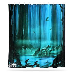 Star Wars Dagobah Shower Curtain Cool Shower Curtains Star Wars