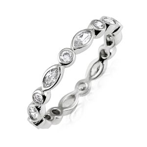 Bezel Set Round Diamond Eternity Band