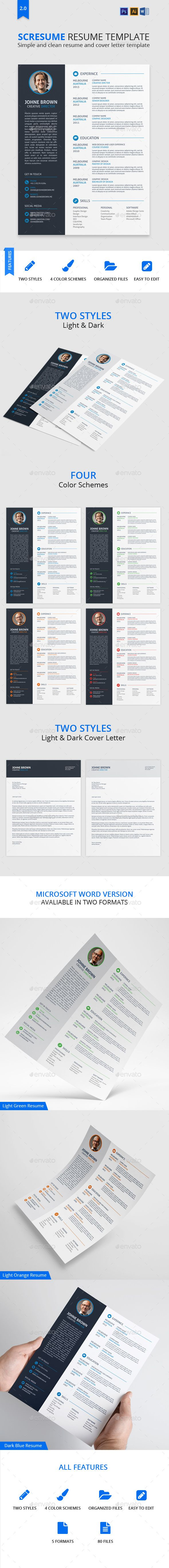 SCRESUME | Resume CV And Cover Letter Template