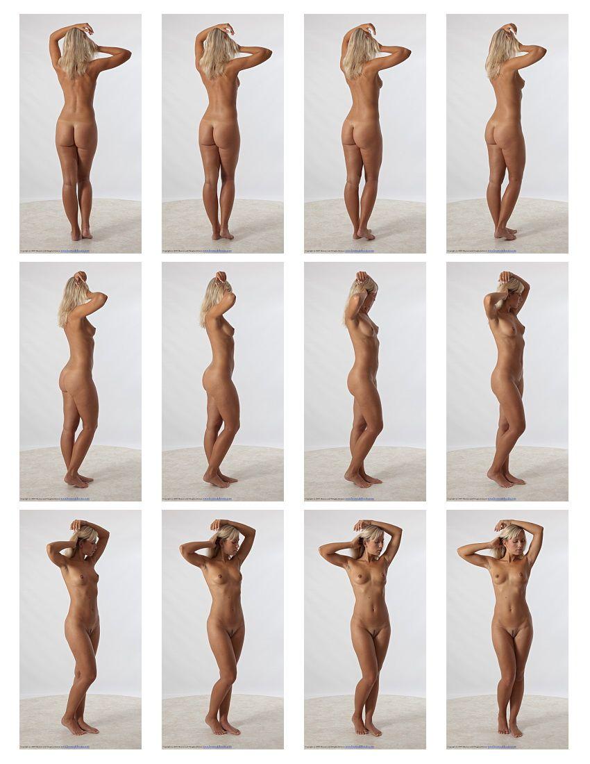 Art Models pose jenni001 Contact Sheet B | female anatomy ...