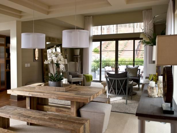 17 brilliant open plan dining room designs in rustic style dining