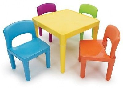 Kids Activity Table Chairs Coloring Blocks Play Room Daycare ...