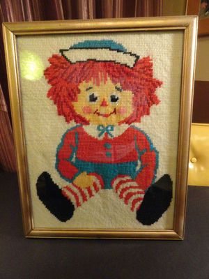 vintage looking raggedy ann and andy stuff is what i want to decorate the nursery. i love this!