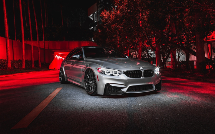 Download Wallpapers F80 Bmw M3 Street 2017 Cars Silver
