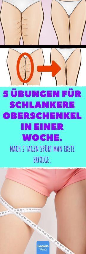 5 Übungen für schlankere Oberschenkel in einer Woche. #schlankaussehen 5 Übungen für schlankere Ober...