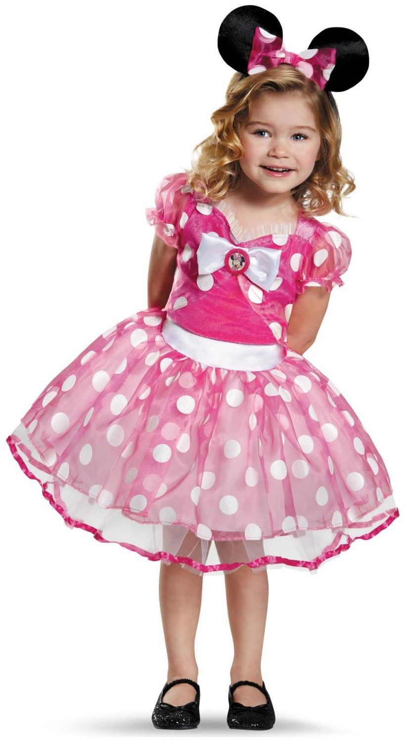 Pink Minnie Mouse inspired sun dress