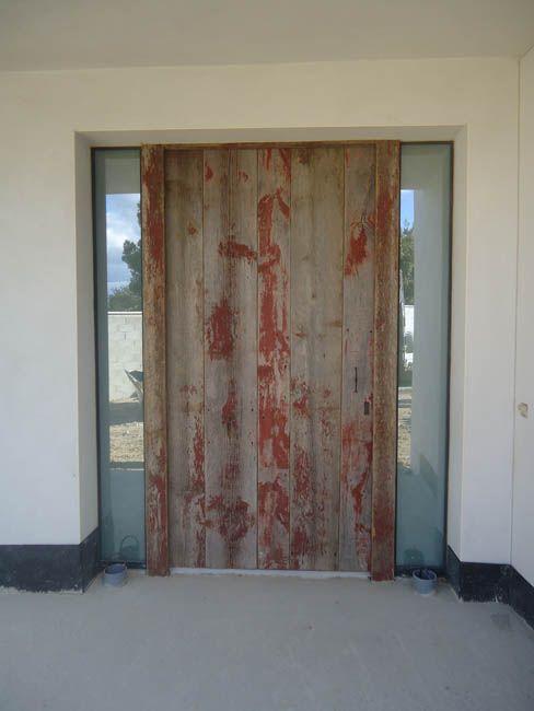 porte d\u0027entrée bardage anciens avec peinture d\u0027origine Fabrication