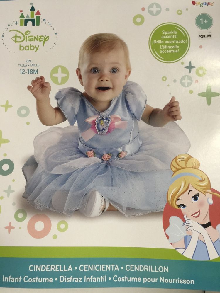 Disney Baby Cinderella Girl Infant Costume Toddler Size 12/18 Months Sparkle  #Disney #Dress