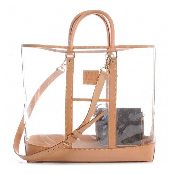 Louis Vuitton Vinyl Isaac Mizrahi Centenaire Sac Weekend Le Clear Tote Bags Clear Bags Structured Bag