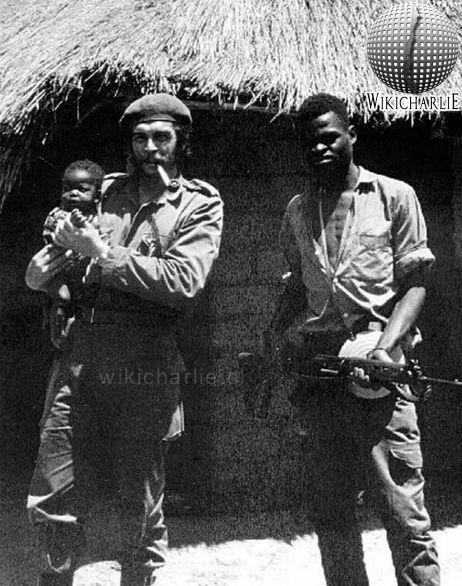 Che Guevara - WikicharliE Fumando habano puro cigarros - wandbilder für küche