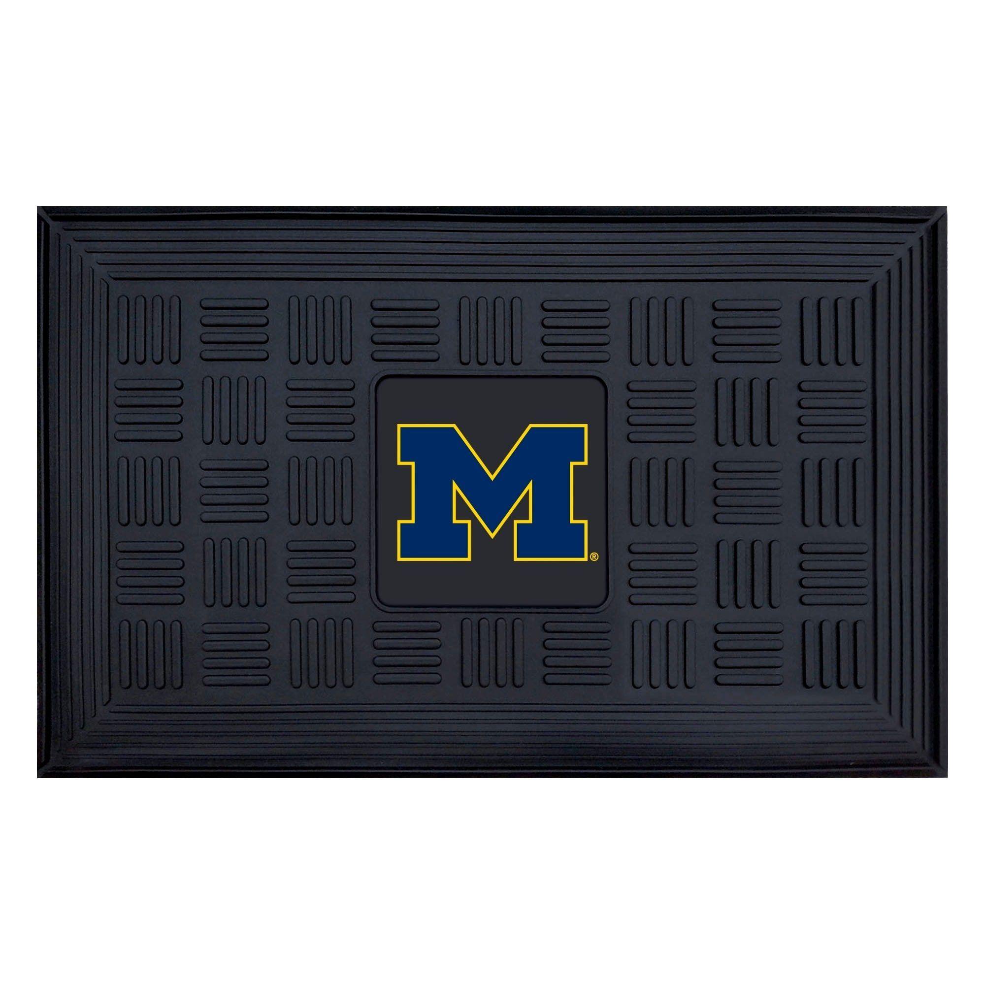 Ncaa University of Michigan Medallion Door Mat 19 in. x 30