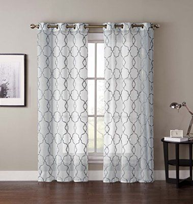 Robot Check Panel Curtains Grommet Curtains Curtains