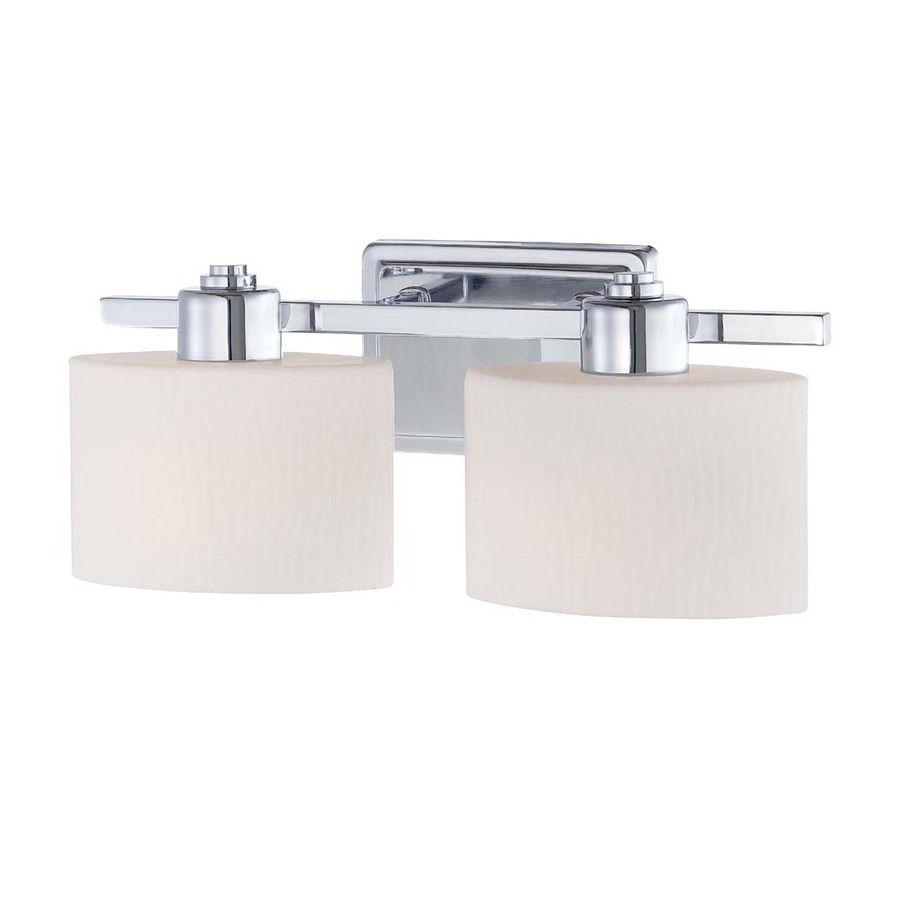 Shop allen roth 2 light polished chrome bathroom vanity light at shop allen roth 2 light polished chrome bathroom vanity light at lowes aloadofball Choice Image
