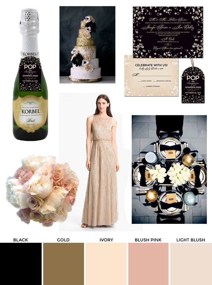 Black Ivory And Champagne Wedding Inspiration How To Create Your