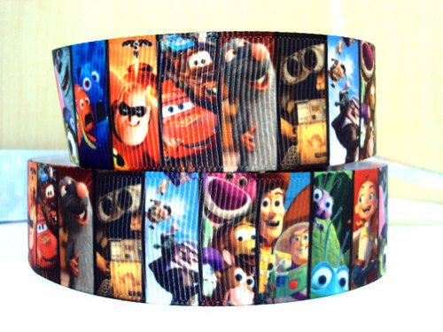 YARD DISNEY CARS LIGHTNING MCQUEEN GROSGRAIN RIBBON CHILDRENS CHARACTER