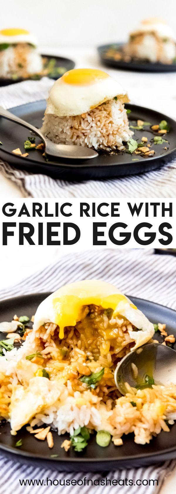 Crispy Garlic Sticky Rice with Fried Egg - House of Nash Eats