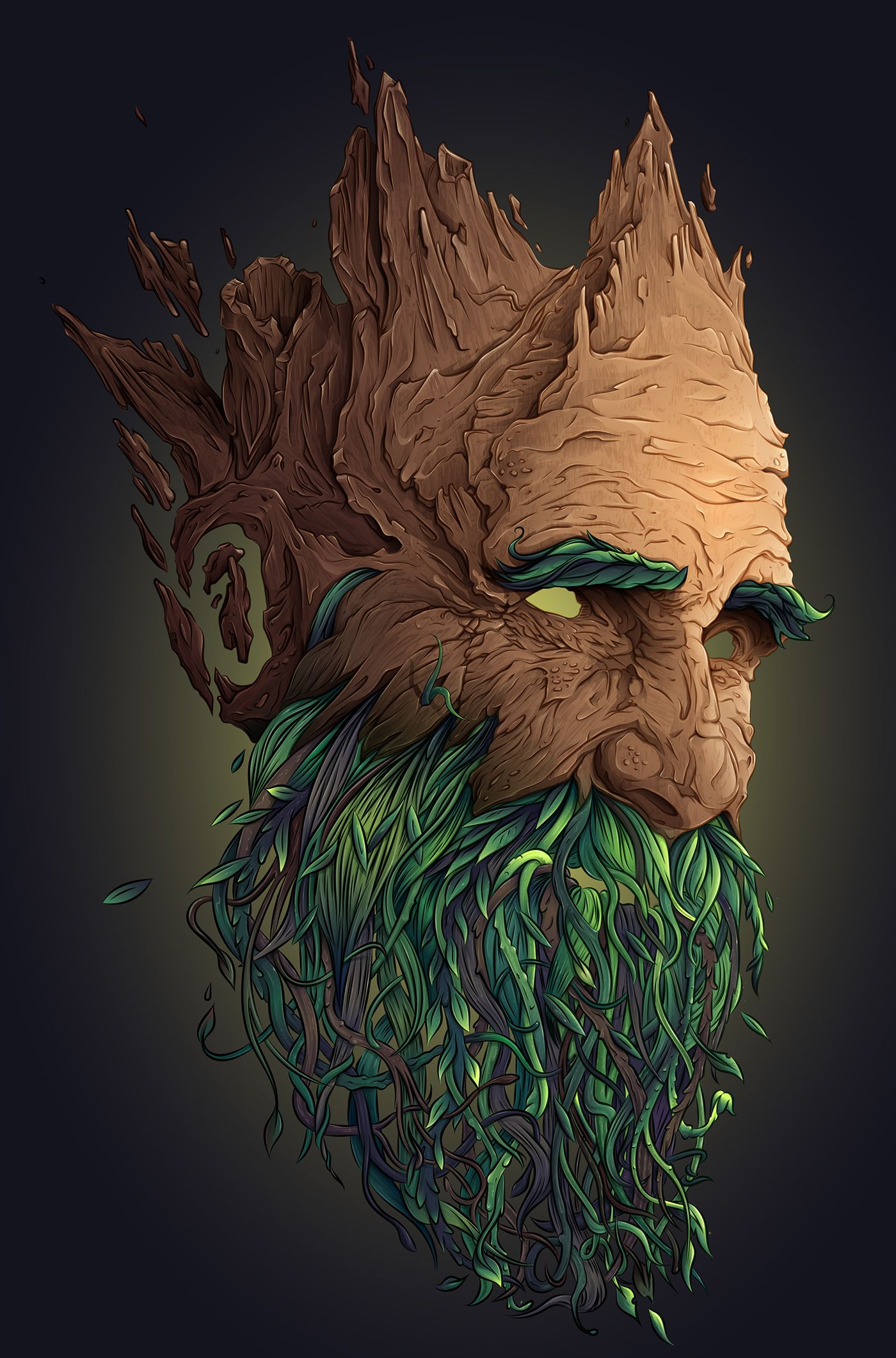 Vegetal Mask Step by step Illustrator CC on Behance