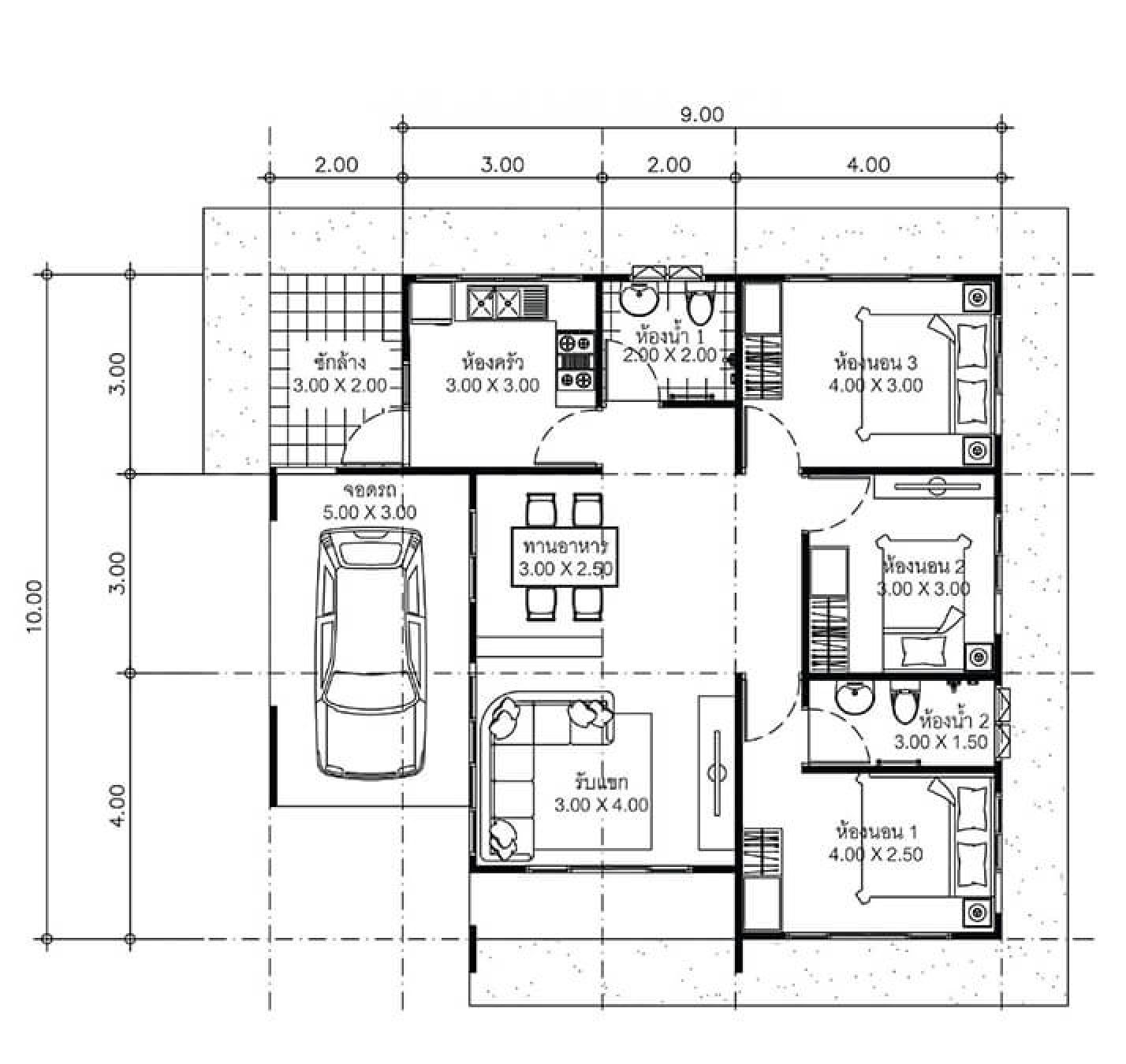 House Plans Idea 11x10 With 3 Bedrooms Sam House Plans Little House Plans Floor Plan Design House Plans