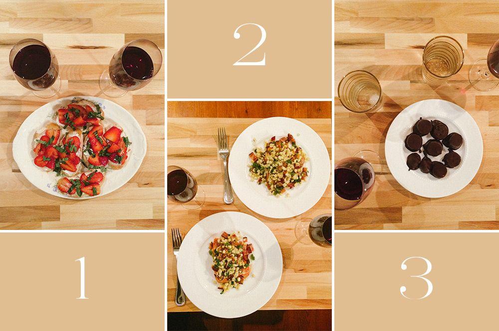 Date Idea 3 Course Meal