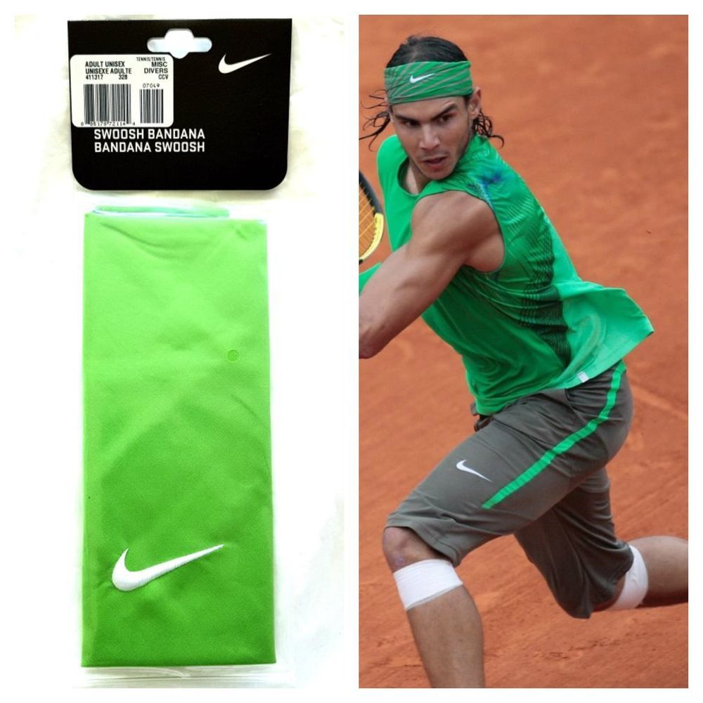 Nike Swoosh Rafa Nadal Federer Tennis Bandana Headband Sweatband Sport Unisex Nike Bandana Headband Sweatband Nike
