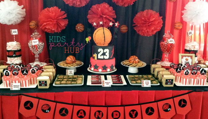 Image result for basketball party table