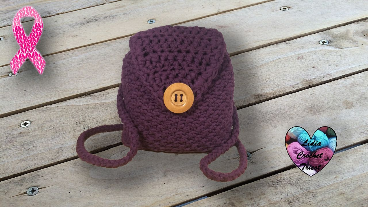 Sac à dos trapilho crochet DIY Lidia Crochet Tricot | Lidia