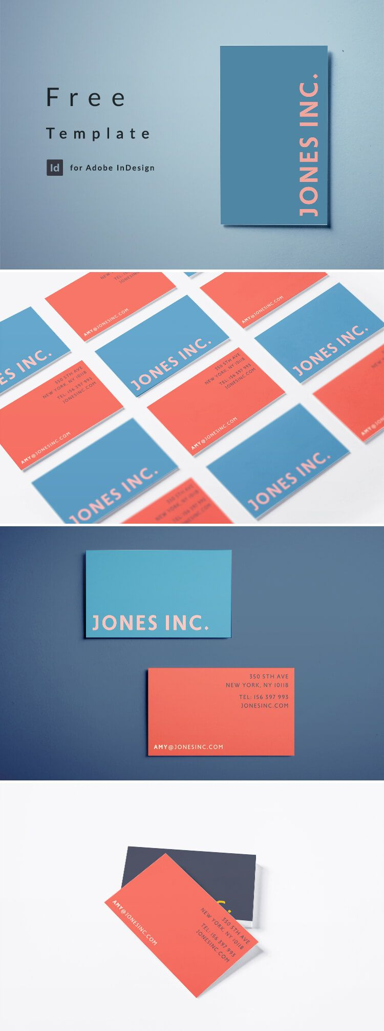 Free Indesign Business Card Template With A Bold Modern Design Business Card Template Free Business Card Templates Modern Business Cards Indesign business card template free