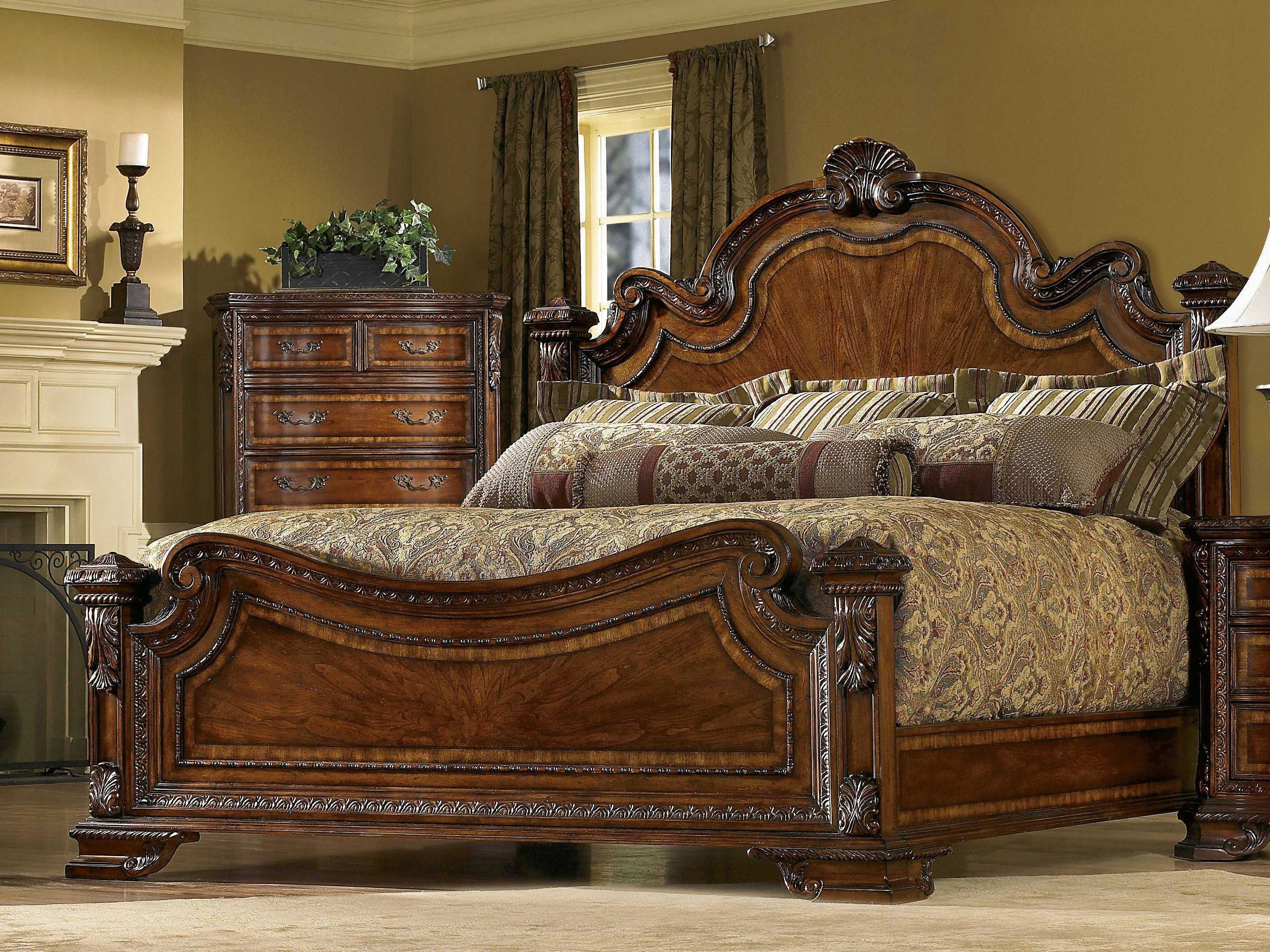A.R.T. Furniture Old World Estate Queen Panel Bed | BEDROOM ...
